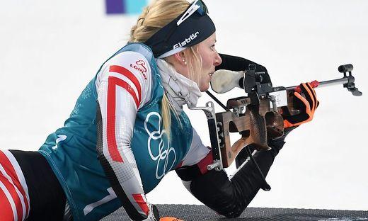 Theresa Hauser muss sich gedulden: Das Biathlon-Einzel über 15 km wurde verschoben