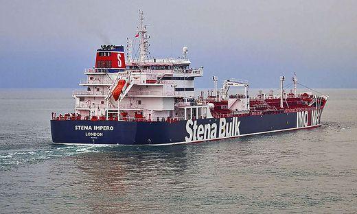Der britische Öltanker