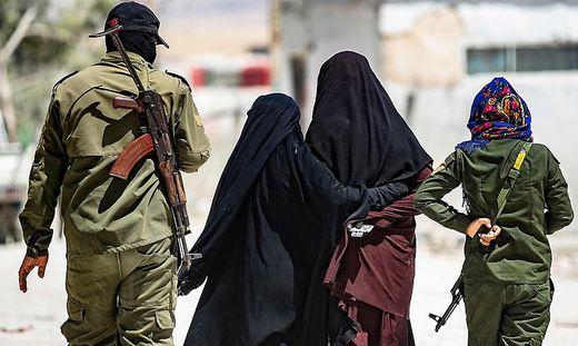 Ein Bild aus dem kurdischen Gefangenenlager Al-Hol