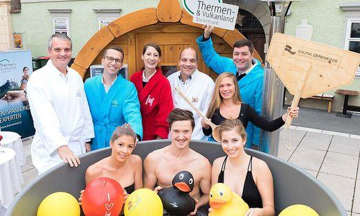 Mit erster mobiler Sauna zu Besuch in Graz