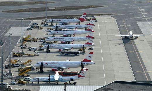 Viele AUA-Flieger bleiben vorerst am Boden
