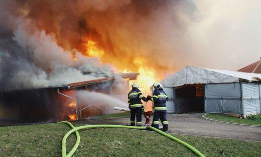 Seit 150 Jahren ist die Feuerwehr Leibnitz im Einsatz für die Sicherheit der Bevölkerung. Hier beim Großbrand eines Reitstalls im Vorjahr