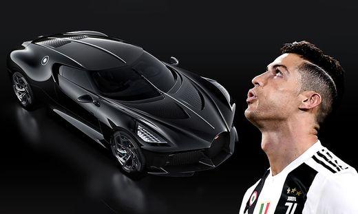 finest selection 7723e 36019 Bugatti La Voiture Noire: Cristiano Ronaldo hat sich das ...