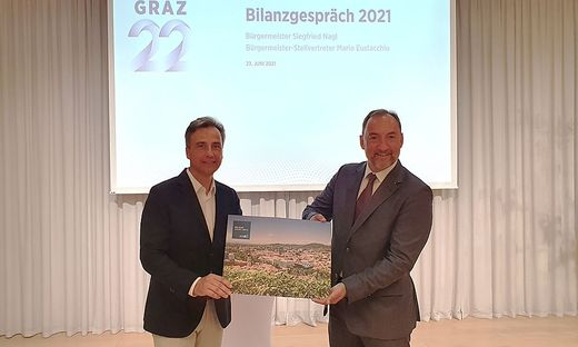 Bürgermeister Siegfried Nagl (ÖVP) und Vize Mario Eustacchio (FPÖ)