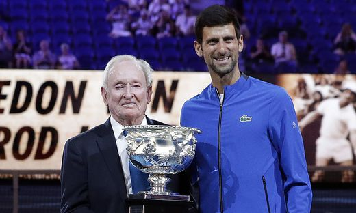 Novak Djokovic könnte Rod Laver nachfolgen
