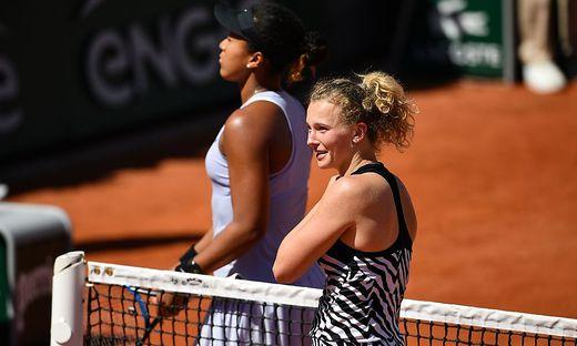 Katerina Siniakova (rechts) besiegte Naomi Osaka