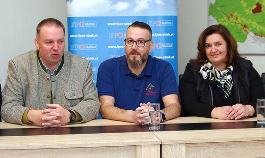 Reinhard Richter, Thomas Haberfellner und Maria Elisabeth Posch