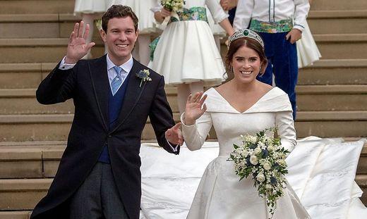 Eugenie und Jack Brooksbank bei ihrer Hochzeit