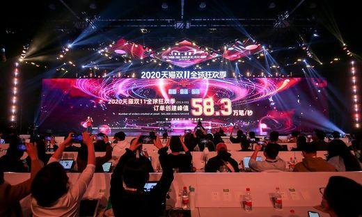 Alibaba inszeniert den Singles Day als buntes Spektakel