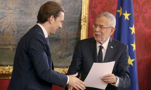Sebastian Kurz und Van der Bellen