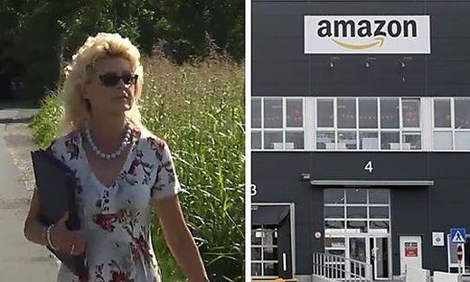So sieht das Amazon-Verteilzentrum in Wien aus (rechts). Dass ein solches auch in Graz-Liebenau entstehen soll, kann Anrainerin Regina Zenz nicht verstehen
