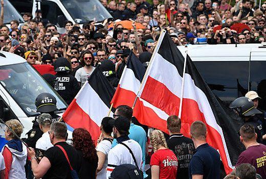 Aufmarsch in Chemnitz am Samstag