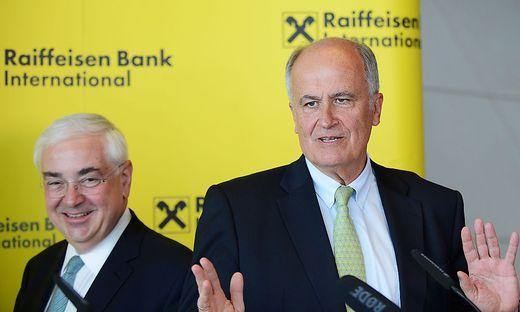 RZB-Chef Walter Rothensteiner und RBI-Boss Karl Sevelda
