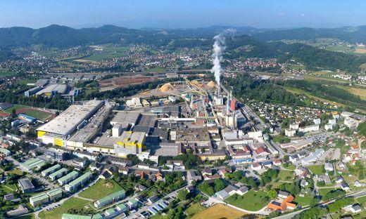Die Papier- und Zellstofffabrik in Gratkorn