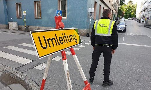 Straßensperren Demo