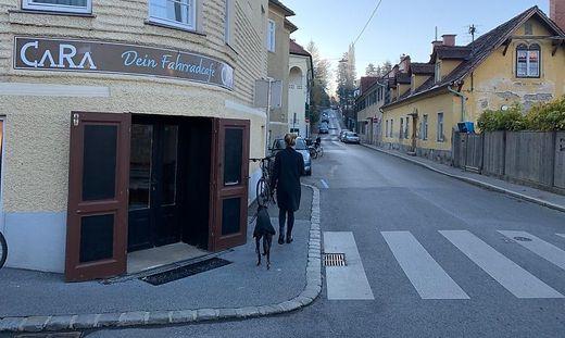 Auch ein Fahrradcafé versuchte sein Glück.