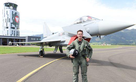 Eurofighter-Pilot Dietrich Springer ist für das Flugprogramm bei der Airpower zuständig