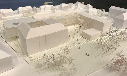 """Der Bau der """"Schule der Zukunft"""" ist derzeit auf Eis gelegt"""