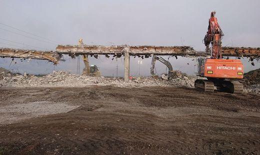 Die Baustelle südlich von Graz