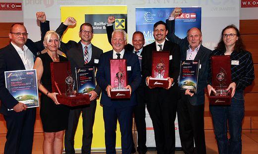 Die strahlenden Sieger gestern am Abend bei der Verleihung des Exportpreises 2019