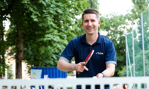 Markus Mitteregger spielt gern am Hasnerplatz. Bei der Tischtennischallenge brachte er den Augarten als Standort für einen neuen Tischtennistisch ins Spiel