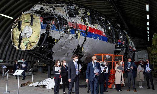 Die zerschossene Boeing: Denkmal einer Tragödie