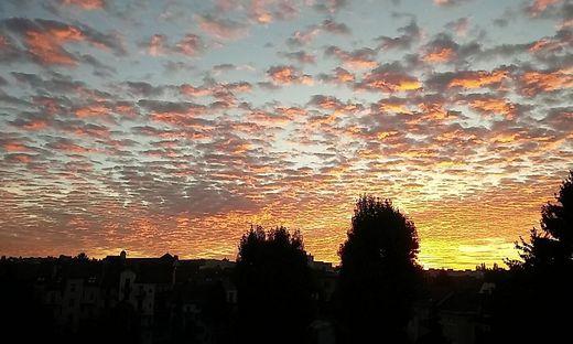 Der Morgenhimmel über Graz