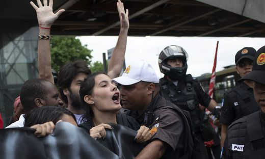 Die Polizei geht in Brasiliens Hauptstadt mit aller Härte vor