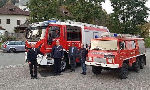 Die Wehr freute sich über ein neues Feuerwehrauto