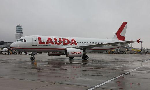 Ein Flugzeug der Billig-Airline Lauda