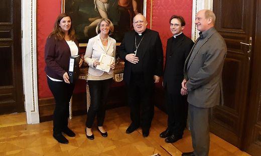 Die Kärntner KA-Spitze bei der Audienz beim Nuntius