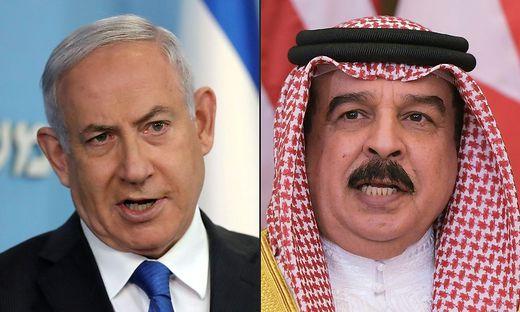 Annäherung: Israelis Premier Netanjahu und  Bahrains König Hamad bin Isa Al Khalifa