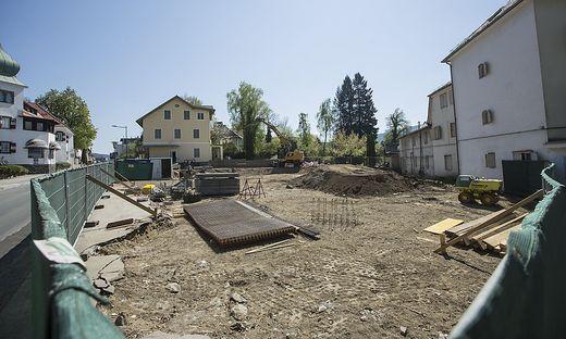 abgerissenes ehemaliges Krainer Haus - Rapatz Haus - Poertschach April 2017