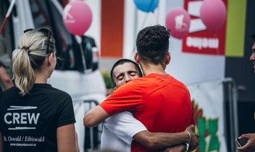 Im Ziel: Shir Safizadeh ist ein Champion. Beim Koralpenlauf wurde er Erster