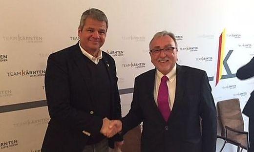 Team-Kärnten-Chef Gerhard Köfer und Heinrich Mayr (rechts)