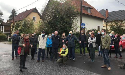 Verkehrsstadträtin Elke Kahr stellte sich am Freitag den Fragen von aufgebrachten Bürgern in Eggenberg