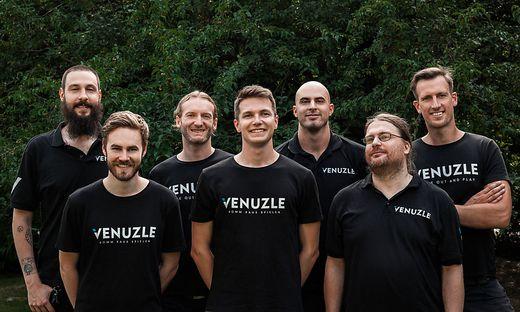 Das Venuzle-Team rund um die Geschäftsführer Thomas Burgstaller, Bernhard Bauer und Wolfgang Lang