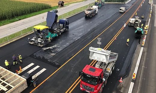 Die Baustelle bei Langenwang dauert bis Mitte November an