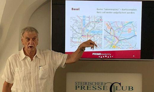 Verkehrsplaner Willi Hüsler orientiert sich bei den Planungen für Graz an Vorbild-Städten Zürich und Bern