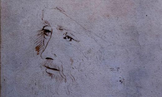 Porträt von  Leonardo da Vinci in der  Royal Collection in London