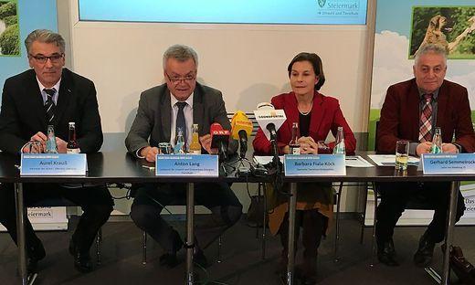 Aurel Krauß, Anton Lang, Barbara Fiala Köck und  Gerhard Semmelrock