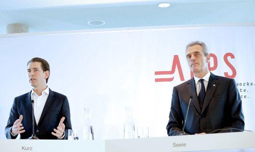 Kanzler Sebastian Kurz und OMV-Chef Rainer Seele