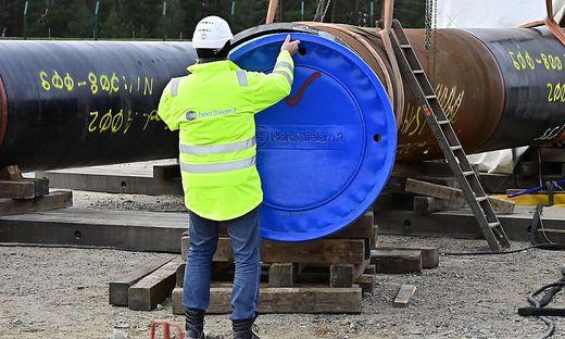 Arbeiten an der Nord Stream 2-Pipeline