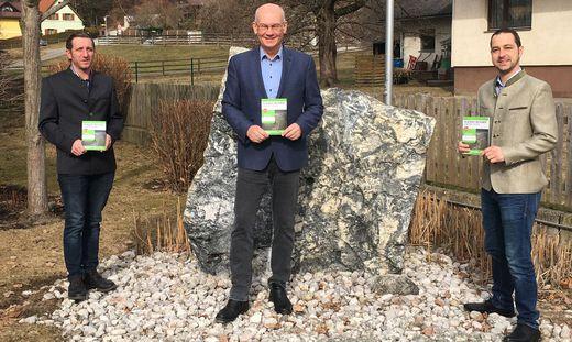 Gemeindekassier Franz Hude, Bürgermeister Joachim Lackner, Vizebürgermeister Martin Schuchaneg