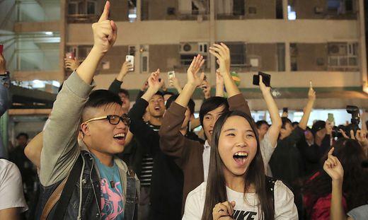 Jubel bei den Demokratie-Befürwortern in Hongkong