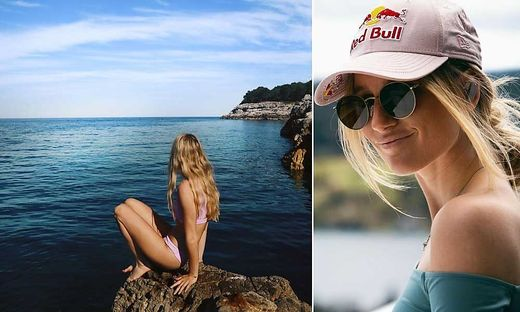 Ob einfach nur cool oder im Bikini: Anna Gasser macht in jeder Hinsicht eine top Figur