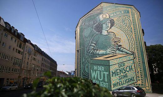 Wandgemälde in Dresden