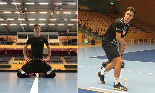 Torhüter Maxi Obereder (links) ist auf Tryout in Schweden, Niki Felsberger bleibt fix für ein Jahr
