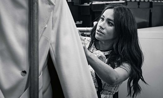 Meghan bei ihrer Arbeit als Gast-Editorin der britischen Vogue