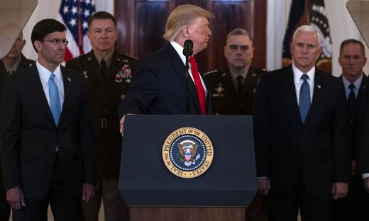 US-Präsident Donald Trump kurz nach seiner Ansprache